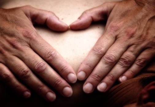 Touching hands_heart