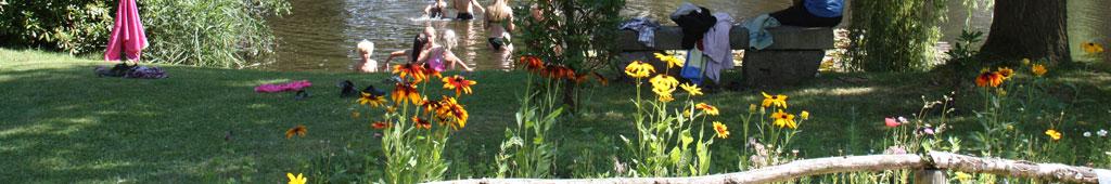 Bloemen en zwemmen